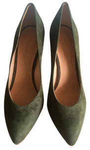 Madewell Pointy Toe Suede Brand New Olive Green Pumps