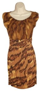 Diane von Furstenberg Dvf Jamila Tiger Silk Dress