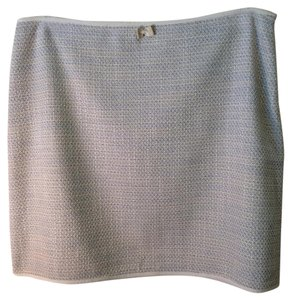 Elie Tahari Skirt Cream ... Light and dark blue