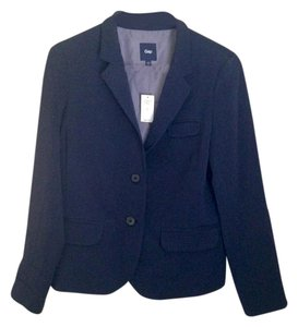 Gap Cropped Navy Blazer