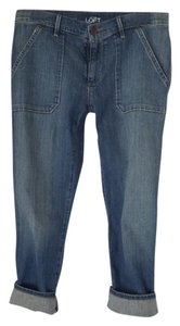 Ann Taylor LOFT Capri/Cropped Denim-Medium Wash