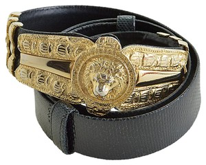 Judith Leiber RDC5645 Judith Leiber Vintage Black Snake Embossed Adjustable Belt