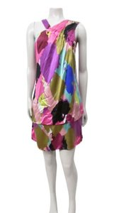Corey Lynn Calter short dress Multi-Color Watercolor Abstract Print Silk on Tradesy