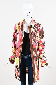 Emilio Pucci Green Pink Beige Multi-Color Jacket