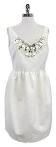 Kate Spade short dress White Sleeveless Embellished on Tradesy