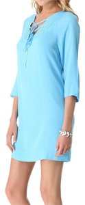 Diane von Furstenberg short dress Sky Blue on Tradesy