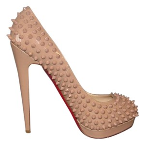 Christian Louboutin Spike Patent Alti 160mm Nude Pumps