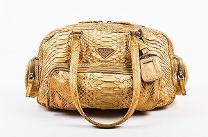 Prada Tan Python Shoulder Bag