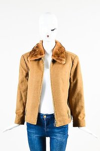 Escada Wool Camel Silk Coat