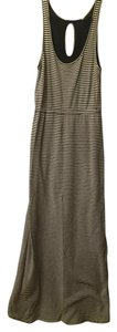 Black/gray Maxi Dress by J.Crew