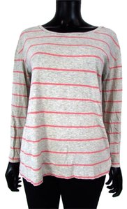 Alternative Apparel Pima Cotton Knit Knit Long Sleeve Striped T Shirt Pink
