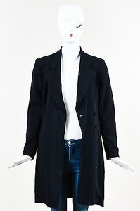 Escada Escada Black Wool Long Sleeve Notch Lapel Long Line Blazer