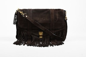 Proenza Schouler Proenza Suede Fringe Ps1 Runner Messenger Cross Body Bag