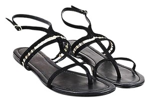 Sigerson Morrison Gold Black Sandals
