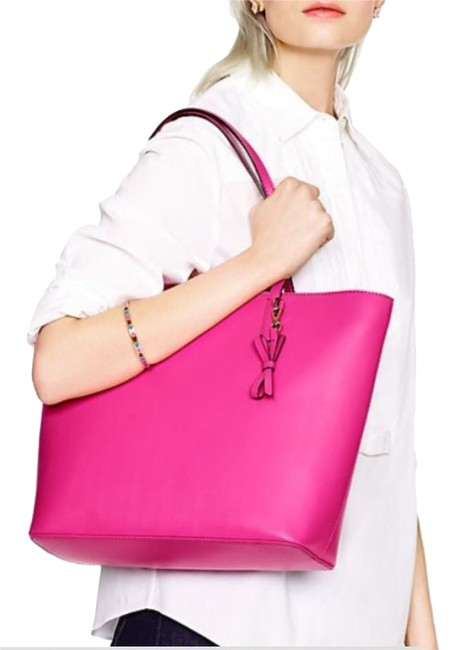 Item - Sawyer Street Maxi Snapdragon Pink Leather Tote