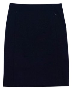 Diane von Furstenberg Navy Zip Pencil Skirt