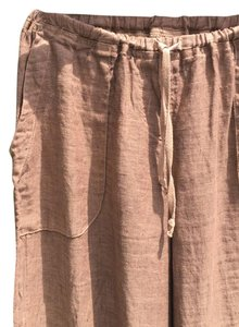 CP Shades Relaxed Linen Pull On Beach Relaxed Pants Mocha