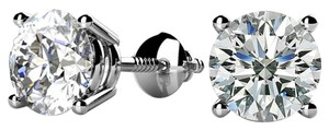 Avi and Co 2.00 cttw Round Brilliant Diamond Stud Earrings F-G/VS 14K White Gold