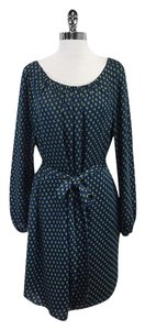 Shoshanna short dress Blue Green Geo Print Tie on Tradesy