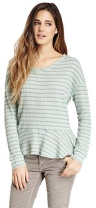 Free People We The Thermal Striped Top GREEN