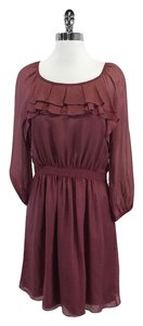 Tibi short dress Mauve Silk Ruffly on Tradesy