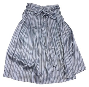 Jill Stuart Chloe Blue Striped Silk Skirt