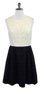 Shoshanna short dress Cream Black Lace Contrast on Tradesy