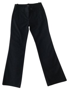 Ann Taylor Cotton Boot Cut Pants Black