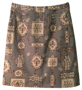 Talbots Skirt Gold and Black