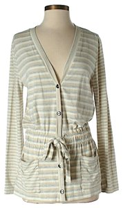 St. John Striped Belted Cardigan