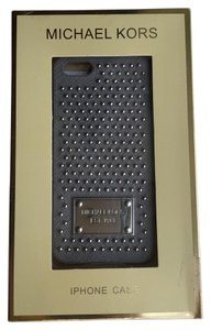 Michael Kors Michael Kors Silver Studded Saffiano Leather IPhone 5 Cover Case
