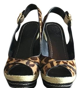 Vince Camuto Leopard Wedges