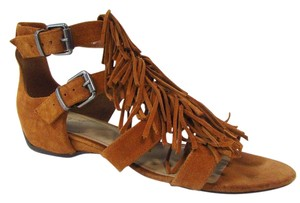 Kenneth Cole Reaction Fringe Suede Audra Brown Sandals