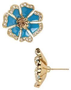 Kate Spade NWT KATE SPADE GARDEN GROVE FLOWER STUD EARRINGS TURQUOISE W BAG