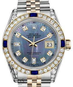 Rolex Rolex 36mm Datejust Watch Tahitian MOP Dial with Sapphire & Diamond