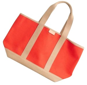 J.Crew Beach Stroller Weekender Tote in Orange