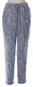 J.Crew Modal Easy Beach Summer Relaxed Pants Blue and White Print