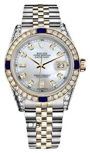 Rolex Ladies Rolex 26mm Datejust Watch White MOP 8+2 Dial Sapphire&Diamond