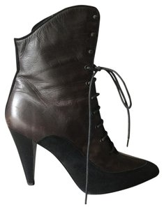 Proenza Schouler Lace-up Black and Brown Boots