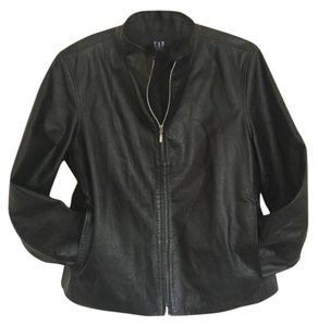 Gap Biker Leather Leather Jacket