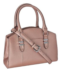 Tignanello Purse Womens Satchel in Rose Metallic