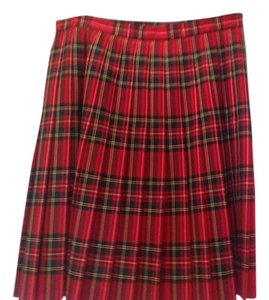 Escada Skirt Red plaid
