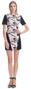 Tibi short dress Black, White, Pink Print Mini Panel on Tradesy