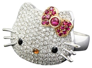 Sanrio Hello Kitty San Rio Diamonds and rubies 18K White Gold Ring