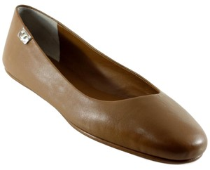 Tory Burch Leather Travel Ballet Royal Tan Flats