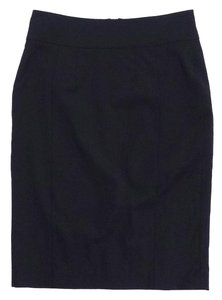 Burberry Black Lightweight Wool Skirt
