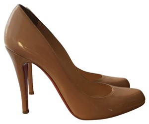 Christian Louboutin Patent Pump Nude Pumps