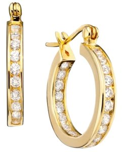 B. Brilliant B. Brilliant 18k Gold over Sterling Silver Cubic Zirconia Hoop Earrings (2-1/3 ct. t.w.)
