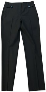 Theory Wool Classic Italian Stretchy Pleated Trouser Pants Black