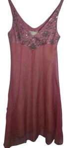 Rebecca Taylor Sequin Silk Detail Chiffon Dress